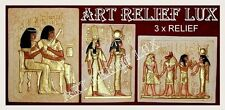 3 X RELIEF RELIEFS ÄGYPTISCHE WANDRELIEF FLACHRELIEF ÄGYPTEN SKULPTUR BILD LUX