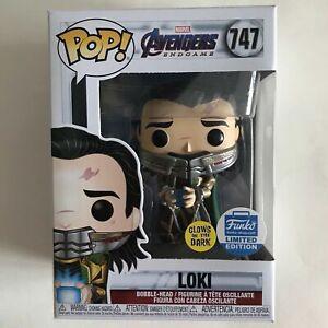 Funko Pop! Avengers Endgame 747#Loki with Tesseract Glow Exclusive Action Figure