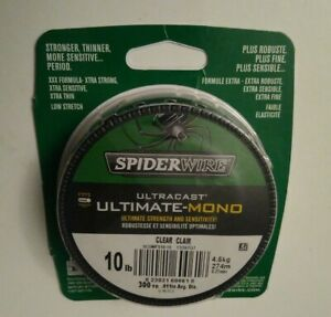 Spiderwire SCUMFS10-15 Ultracast Ultimate Mono Line 10lb 300yd Spool Clear