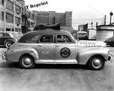 Photograph of a  Chevrolet Detroit Police Car Year 1940c   8x10