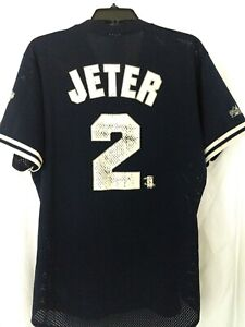 Derek Jeter New York Yankees 1998 World Series Champions Majestic Jersey Medium