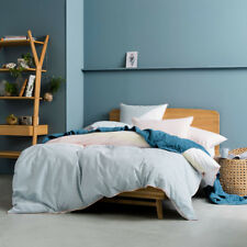Linen House Norman Blue Double Bed Size Duvet Doona Quilt Cover Set RRP179.95