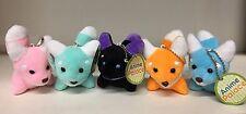 """Set Of 5 Cute Fox Plush Keychain (2"""")"""