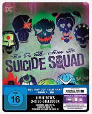Suicide Squad 3d + 2D Blu-ray Steelbook NEU OVP