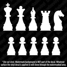 CHESS PIECES FAMILY Decal Stick Figure Window Sticker Checkmate King Queen Game