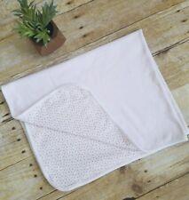 Ralph Lauren  Classics 100% Cotton Pink Floral  Receiving Baby Blanket