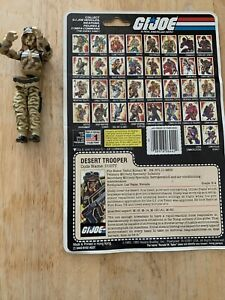 "1985 G.I. Joe -  Desert Trooper ""DUSTY"" Action Figure With Data File Card"