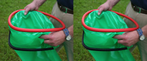 "2 x Handi Hoop Bag Bago Holder Litter Picker Hand Held Refuse Rubbish 13"" 330mm"