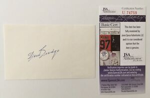 Don Budge Signed Autographed 3x5 Card JSA Certified Tennis Hall Of Fame HOF