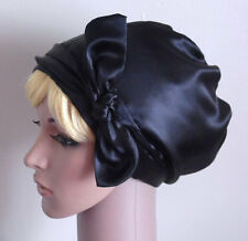 Black Hair Wrap, Bad Hair Day Scarf, Black Headscarf, Satin Tichel, Head Snood