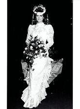 1985 Original Photo NYC fashion model & actress Brooke Shields in wedding dress