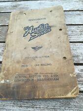 AUSTIN SEVEN HANDBOOK 1182A DECEMBER 1934. ORIGINAL FACTORY PUBLICATION