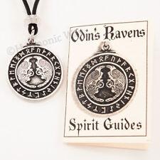 VIKING ODIN'S RAVENS Rune Necklace Norse Pendant Amulet Magic Odin Spirit Guides