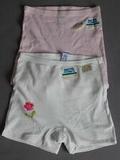 2 Doppel Moppel SANETTA Slip 152 4,95€/Stk Panty  Pant Cutbrief weiss - rosa