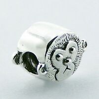 Silver bead Gorgeous Monkey 10mm high 925 sterling silver for charm bracelet