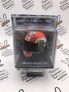 "Die Cast Helmets Moto Gp "" Marco Simoncelli - 2011 "" Scale 1/5 Altaya"