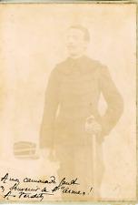 France, Militaire, Portrait en souvenir de l'armée ca.1899 vintage citrate