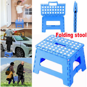 Portable Folding Step Stool Plastic Foldable Camping Chair Store Flat Outdoor