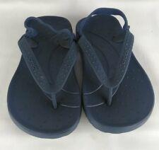 CROCS Toddlers Kids Flip Flop sling back Sandals 8  9 BOYS GIRLS Blue Shoes