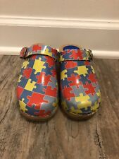 Cape clogs Autism Awareness Youth Size 28 Us Size 11.5