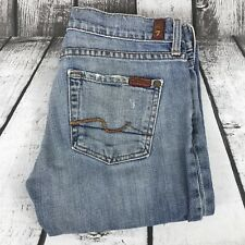7 For All Mankind Womens Bootcut Light Wash Distressed Denim Jeans 26 26x30