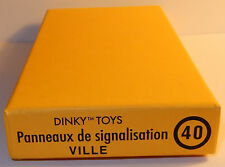 DINKY TOYS ATLAS PANNEAUX DE SIGNALISATION VILLE REF 40 1/43 IN BOX bis