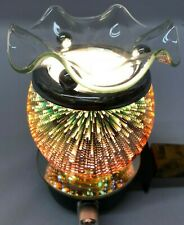Electric plug-in aroma lamp/wax burner/night light with 3D effect of Fireworks