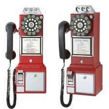 Vintage Payphone 1950 Classic Style Coin Booth Retro Telephone Rotary Replica