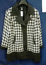 Kurzmantel schwarz weiß 58 MIAMODA Mantel Hahnentritt Pepita EFFEKTVOLL NP129€