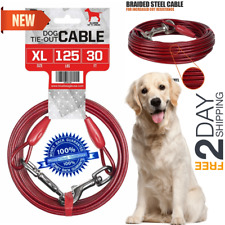 08a45b2ccc5e 30ft Heavy Duty Extra-Large Dog Pet Tie Out Cable Long Leashes Run Steel  Strong