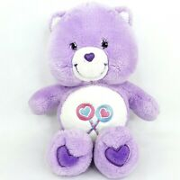 Care Share Bear plush soft toy doll teddy Purple