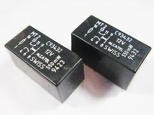 20 x Relais 12V 2xUM 220V 2A AXICOM ALCATEL SWISS MT2 C93432 #13R95#