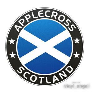 2x APPLECROSS - Scottish Flag Car Vinyl Sticker 75mm x 75mm - WATERPROOF #2399