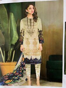 Salwar Kameez Pakistani Designer unstitched Lawn Suit