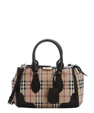 NEW BURBERRY HAYMARKET CHECK BAG GLADSTONE WOMENS TOTE