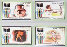 Cook Islands 1992 Unlisted set Olympics barcelona running Ancient Art Archer mnh