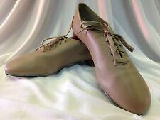 Capezio CG355 Adult Size 10M (Fits Size 10.5) Tan Coppola Jazz Lace Up Tap Shoes