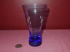 Martell Cognac COBALT BLUE BASE COCKTAIL CORDIAL SHOT GLASS Original      *