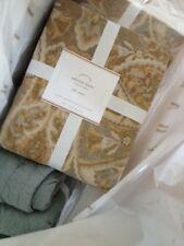 Pottery Barn Sabrine Duvet Cover Set Neutral Queen 2 Standard Sham Ikat Sabine