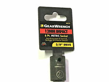 """GearWrench 12MM Impact Socket 3/8"""" Drive 6 Point 84313"""