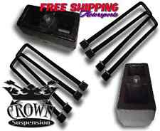 "Crown Suspension 1988-1999 GMC K1500 Steel Rear 4"" Lift Blocks Square Ubolts"