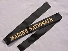 MARINE NATIONALE   - RUBAN LEGENDE MARINE   FABRICATION ANGLAISE W.W.2