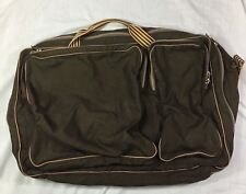 Bill Bayley Bags Vintage Canvas Luggage Shoulder Bag Suitcase Brown 26 X 17 X 6