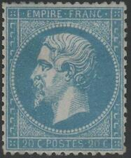 "FRANCE  STAMP TIMBRE N° 22 a "" NAPOLEON III 20c BLEU FONCE 1862"" NEUF x TB  J831"