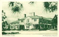 Williamsburg Lodge VA Virginia Hotel old car Postcard Restoration Inc.