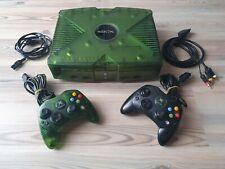 Microsoft X Box Classic Konsole komplett Halo Limited Edition transparent grün