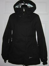Nike Wms Black Snowboarding Jacket Coat Sz S  *Sharp*
