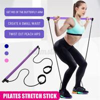 Portable Pilates Strength Rope Gym Stick Yoga Exercise Bar Pilates Train Rope