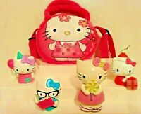 HELLO KITTY COLLECTIBLES☆ PLUSH PUFF PURSE☆ BANK ☆TOY☆ 2 PARTY ORNAMENTS☆SANRIO☆