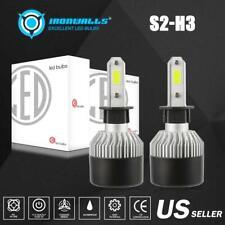 2pcs H3 LED Headlight Conversion HID Bulb Kit Fog Lamp1800W 270000LM 6500K White